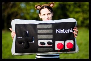 Nintendo Controller als Kissen