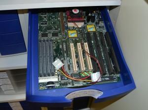 Schubladenbox Mainboard mit Kühler