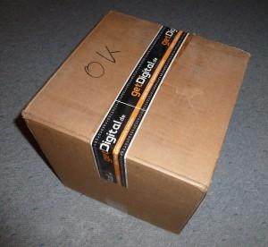 Keksdose verpackt
