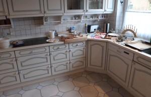 Küche nach dem Backen